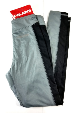 Polaris Mens Gray U.P. Base Layer Water Wicking Compression Pants OEM - S