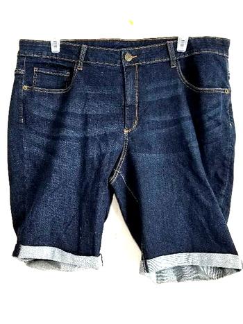 Ladies Denim George Shorts Size 24W 2XL