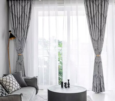 NIB LUXERY SET GROMMET HUNG BLACK OUT CURTAINS