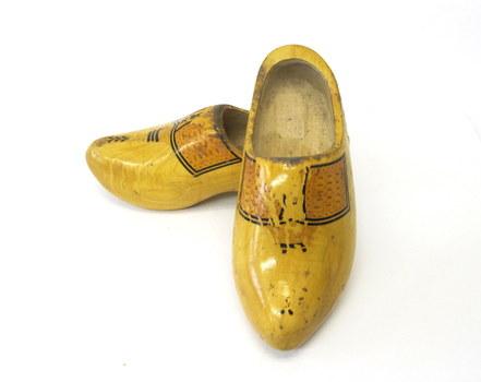 Vintage Wooden Shoes- Size Men 7