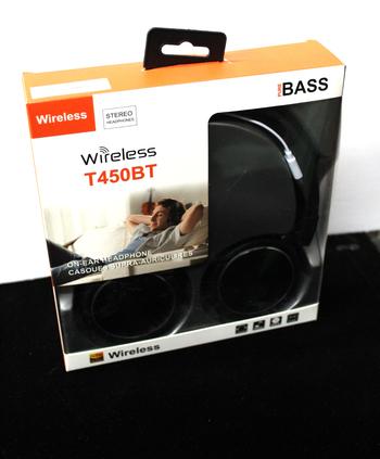 Pure BASS Wireless Headphones - Black