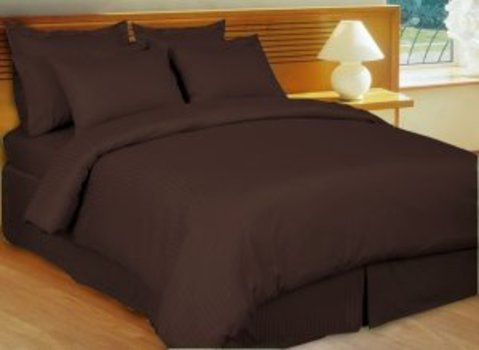 King Bed Sheet Set, Color: Chocolate