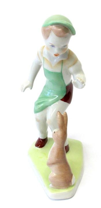 Aquincum Porcelain Figurine made in Hungary- Circa 1960's
