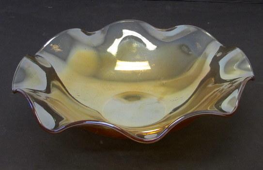 Vintage Carnival Glass Fruit Bowl