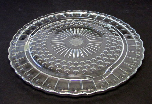 Vintage 3 Footed Depression Glass Cake Plate