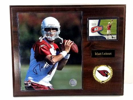 Official NFL Signed Matt Leinart 2006 Arizona Cardinals On A Plaque