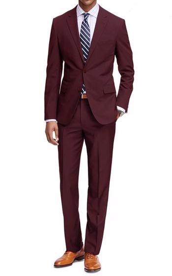 Braveman Men's Classic Fit 2-Piece Suit, Wine, Size 40R/34W
