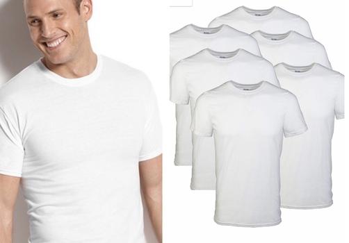 Mens 6 Pack Crew Neck T Shirts 100% Cotton Size XL