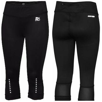 Crivit Pro ladies performance active running Capris leggings Color Black Size M