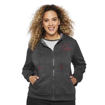 LOVE Ellen Degeneres Women's Plus Fleece Hoodie Size XL