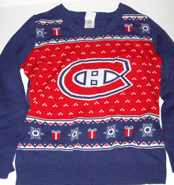NHL MONTREAL CANADIENS Christmas Sweater Size M