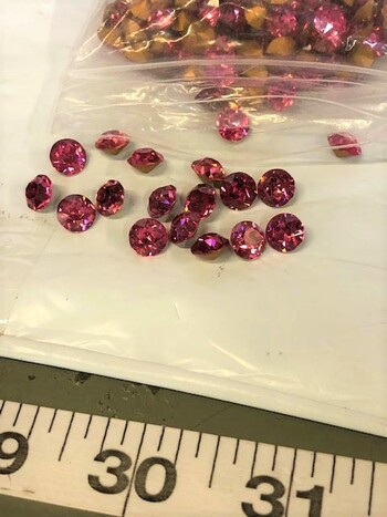 Swarovski Crystals Over 200 Pieces Rose Austria