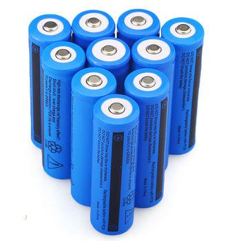 10 PC 3.7V 5000 mAH Li-ion Rechargeable 18650 Batteries