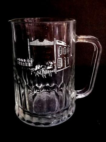Vintage TUDOR England Glass Beer Mug With Handle