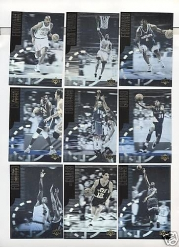 1996 CC Int'l Euro Special Edition Hologram 9 Card Set Pippen Miller Ewing Hill
