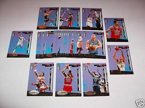 Crash The Game NBA Basketball GOLD FRENCH 30 Card Set 96 1996-97 Jordan Kemp Ewing Kidd Pippen