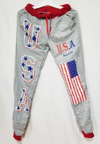 3D USA PRINTED UNISEX JOGGERS  PANTS-SIZE SMALL