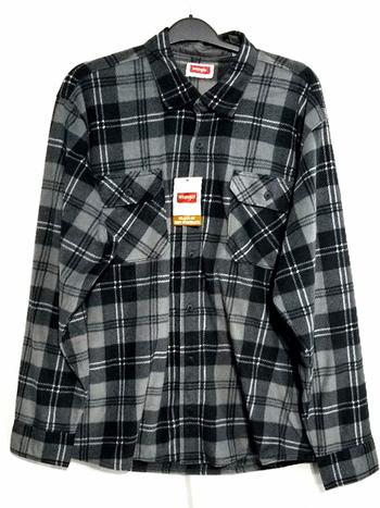 NWT Wrangler Mens Long Sleeve Fleece Shirt Size 2XL