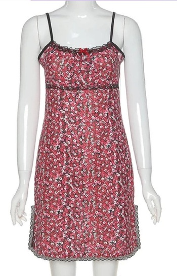 WOMEN SUMMER BOHO DITSY FLORAL PRINT MINI DRESS-SMALL