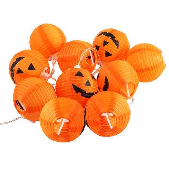Halloween Pumpkin Spider & Bat String 10 LEDs Led Lantern Fairy String Lights