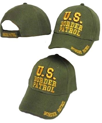 U.S. Border Patrol Green / Yellow Embroidered Cap Hat