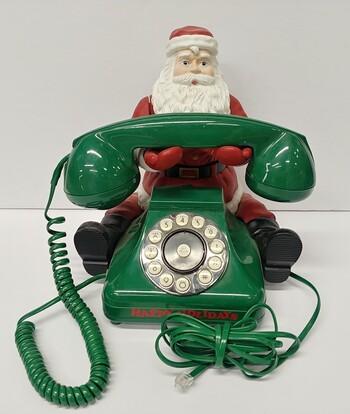 Vintage Mr. Christmas Santa Land Line Santa Phone