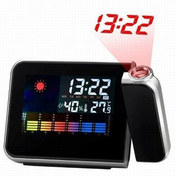 Weather LCD Projection Snooze Alarm Clock with LED Back-light Digital