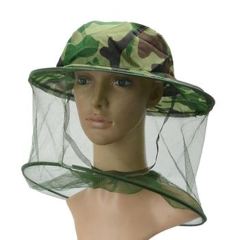 Mosquito Fly Insect Bee Fishing Mask Face Protect Hat Net Camouflage