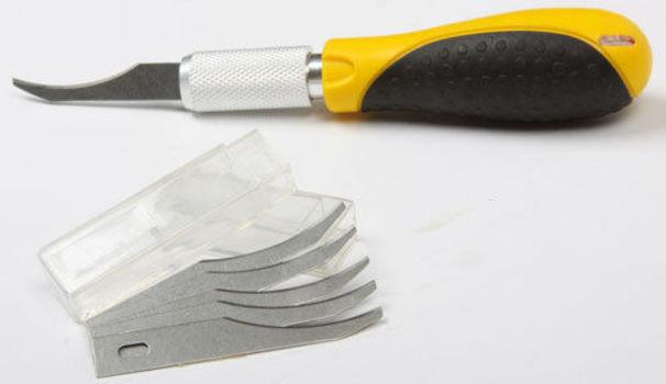 Precision Wood Carving Hobby Knife w 5 Razor Blades