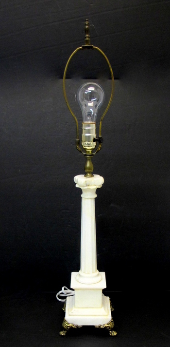Vintage Marble Table Lamp -Circa 1940's