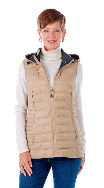 Arctic Expedition Lynn Women's Puffer Vest, Sesame, Size S, Retail: $77.00