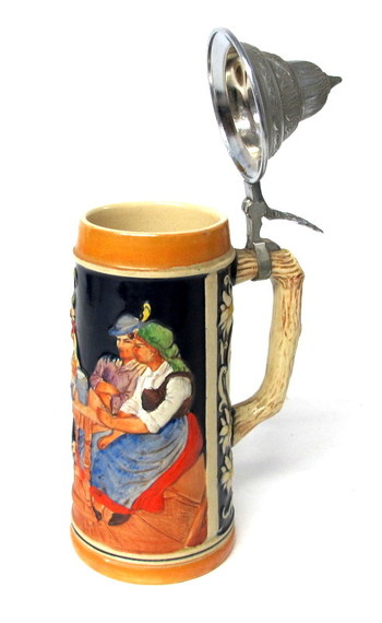 Authentic Beer Stein with Lid made in Germany