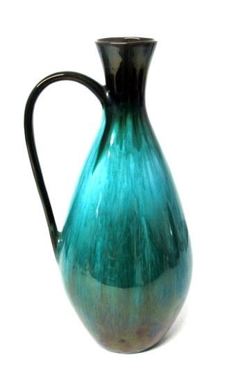 Original  Large Blue Mountain Pottery Spout-less Pitcher