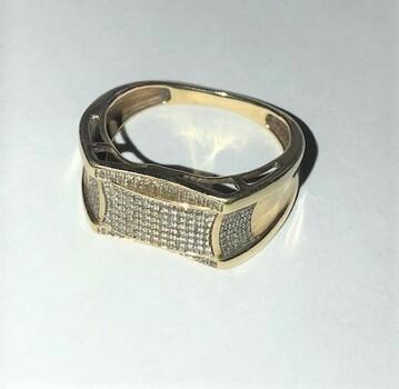 Diamond Ring 10K Appraised $1,850.00