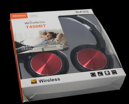 Pure BASS Wireless Headphones - Red