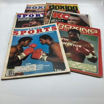 Muhammed Ali/Sugar Ray Leonard/ Boxing Magazines