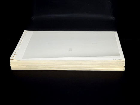 """40 Pages of Stamp Collection Binder Empty Sleeves 10"""" x 7"""""""