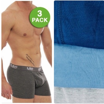 LEO POLDO MANS 3 PACK BOXER BRIEFS 100% COTTON SIZE L
