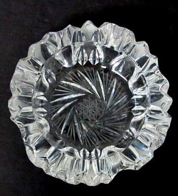 Vintage Pinwheel Crystal Ashtray- Circa 1960's