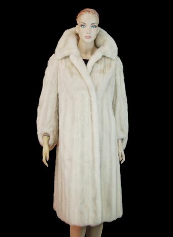 Women's Full Length Light Silver Mink Coat - Size L - Cold Storage Value $5,950.00
