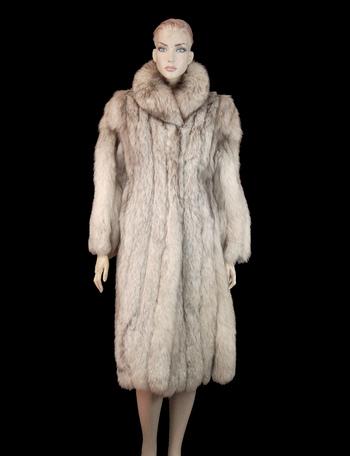 Women's Full Length Silver Fox Fur Coat - Size S/M - Cold Storage Value $5,750.00