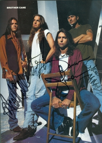 Brother Cane Rock Band 4 Members Signed Autographed 8x10 Magazine Page w/coa $400 Retail
