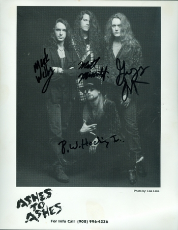 Ashes To Ashes Musical Group Signed Autographed 8x10 Photo w/coa $400 Retail