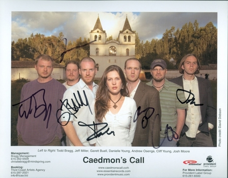 Caedmon's Call Band Signed Autographed 8x10 Photo w/coa $400 Retail