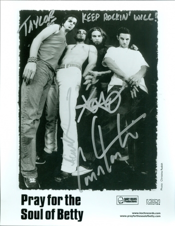 Pray for the Soul of Betty Rock Band Signed Autographed 8x10 Photo w/coa $400 Retail