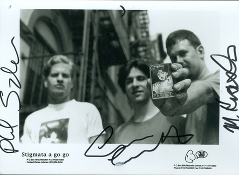Stigmata A Go Go Musical Group Signed Autographed 5x7 Photo w/coa $400 Retail