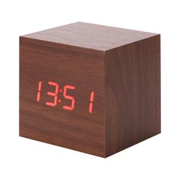 Bamboo Wood LED Alarm Clock