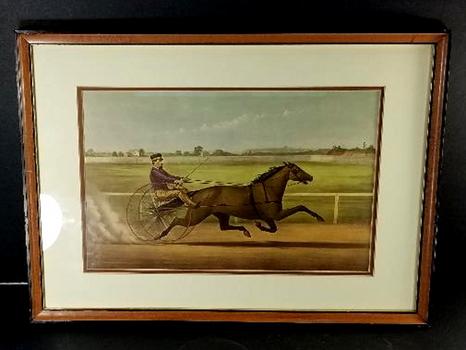 Mr Bonners Horse Joe Elliot Driven by J Bowen CURRIER & IVES VINTAGE Print