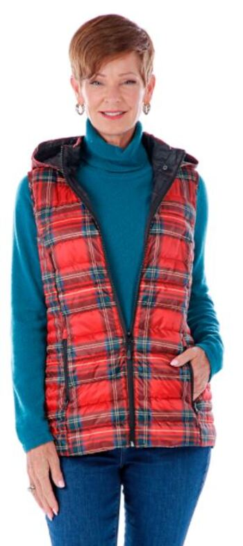 Arctic Expedition Lynn Women's Puffer Vest, Stewart Plaid, Size S, Retail: $77.00