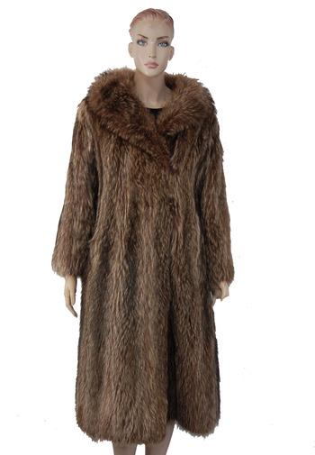Vintage Women's Natural Raccoon Coat-Size S/M